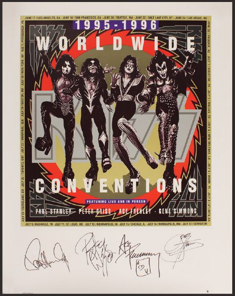 KISS Signed Lithograph