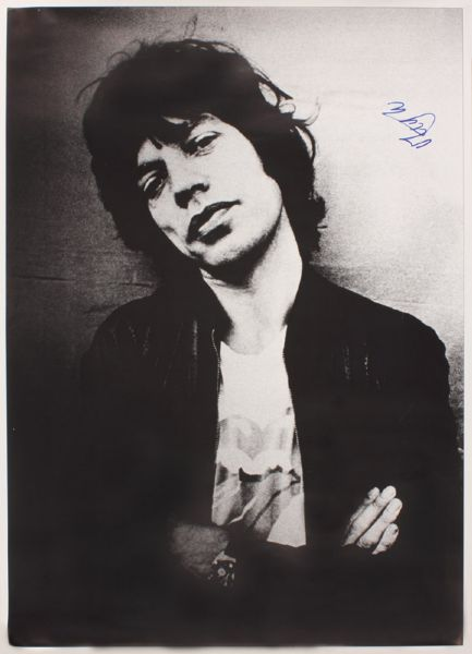 Mick Jagger Signed Poster