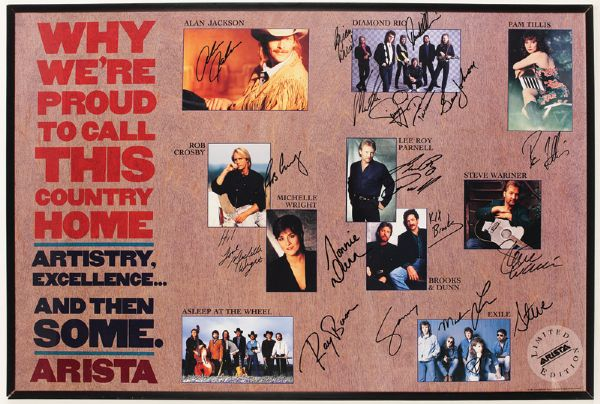 Country Performers Signed Poster
