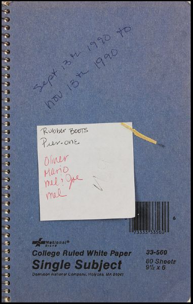 Madonna 1990 Handwritten Notebook With Cards, Clipping and Fax