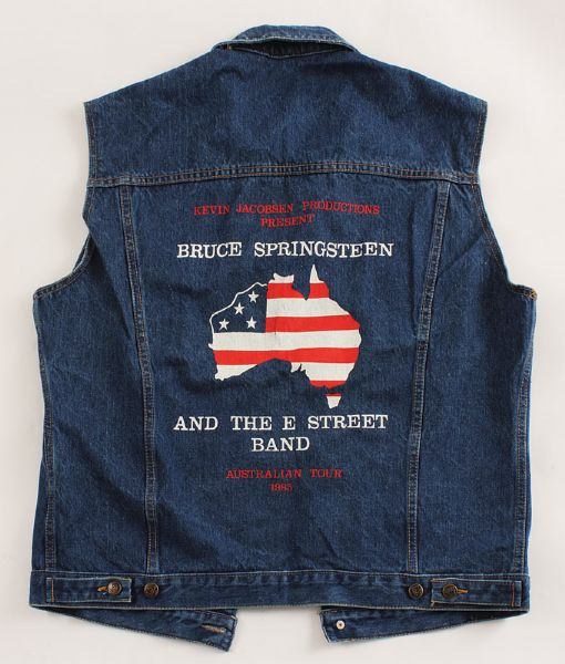 Bruce Springsteen and The E Street Band 1985 Australian Tour Denim Vest