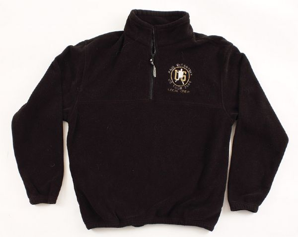 Paul McCartney 2005 U.S. Tour Black Crew Fleece Jacket