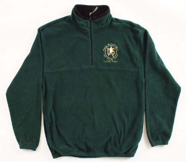 Paul McCartney 2005 U.S. Tour Green Crew Fleece Jacket