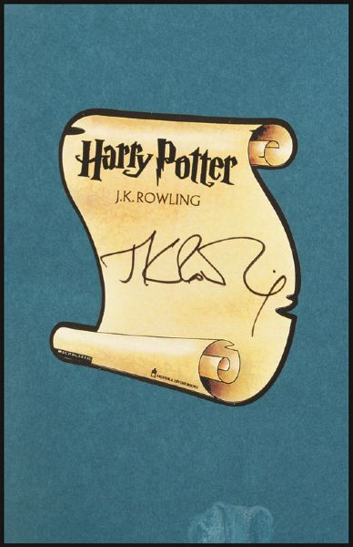 J.K. Rowling Signed Harry Potter And The Sorcerer's Stone First Edition Book