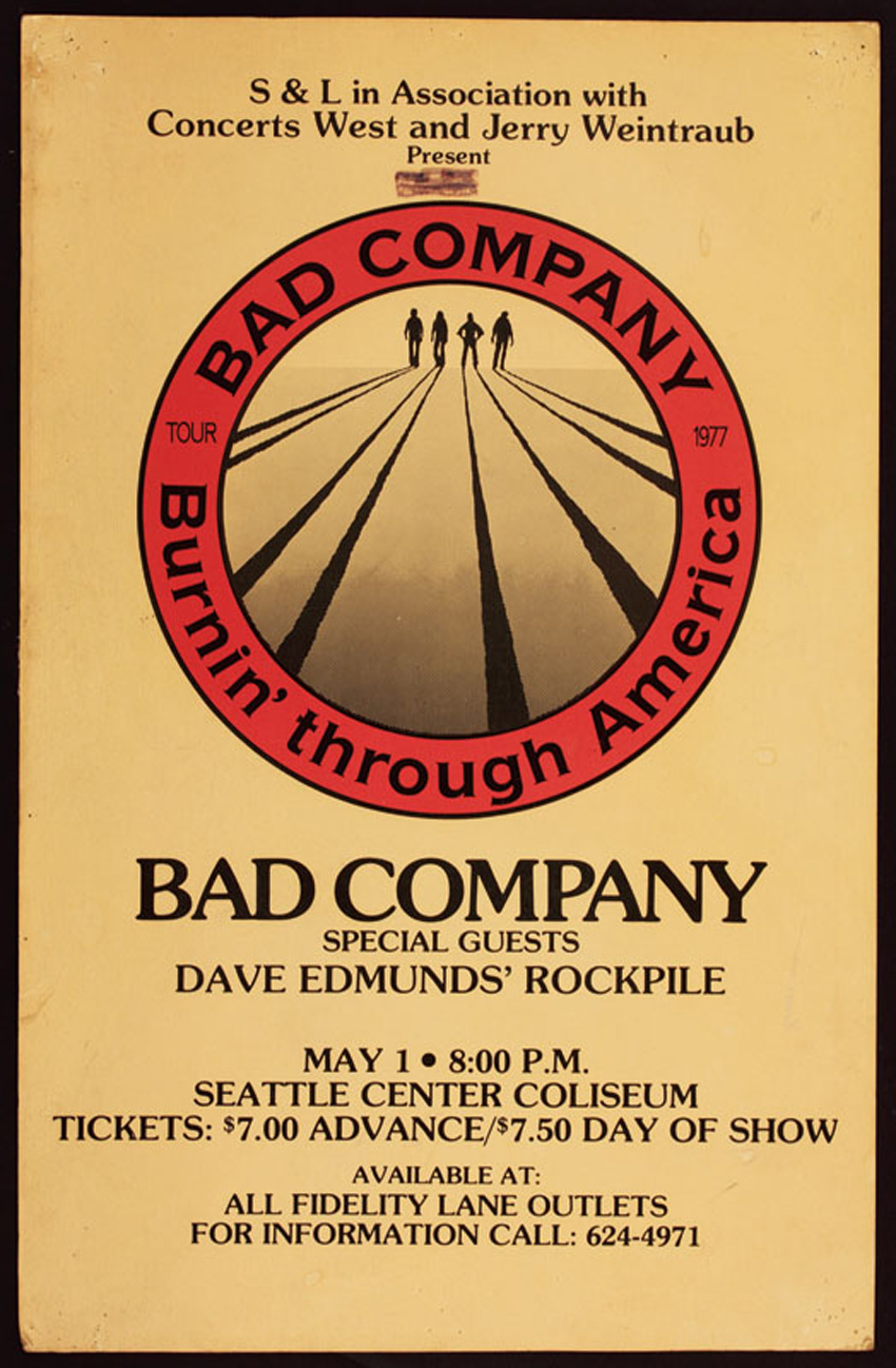 lot detail bad company original concert poster. Black Bedroom Furniture Sets. Home Design Ideas
