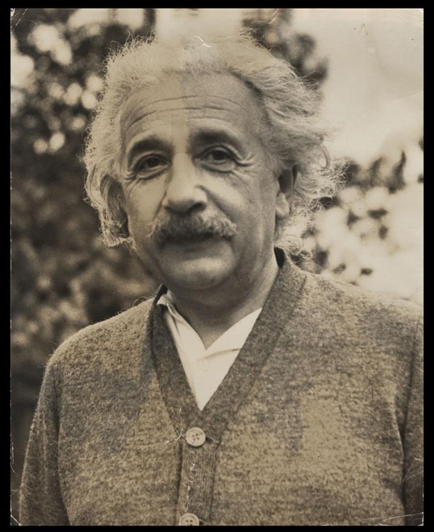 Lot Detail Albert Einstein Original Hans Knopf Photograph