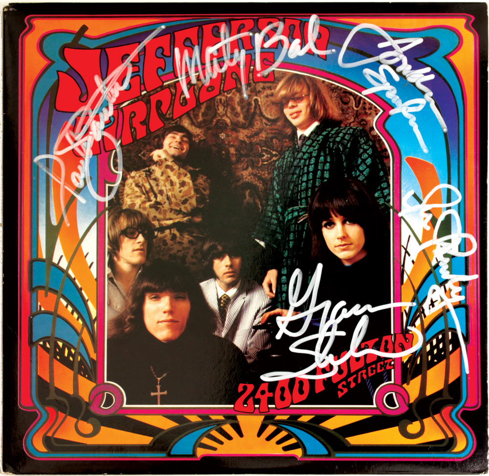 Lot Detail Jefferson Airplane Signed Quot 2400 Fulton Street