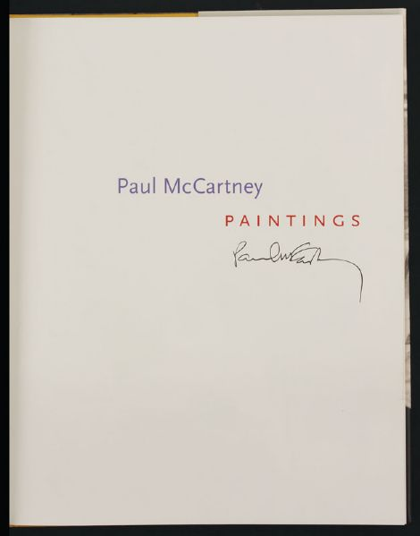 lot detail paul mccartney signed 39 paintings 39 book. Black Bedroom Furniture Sets. Home Design Ideas