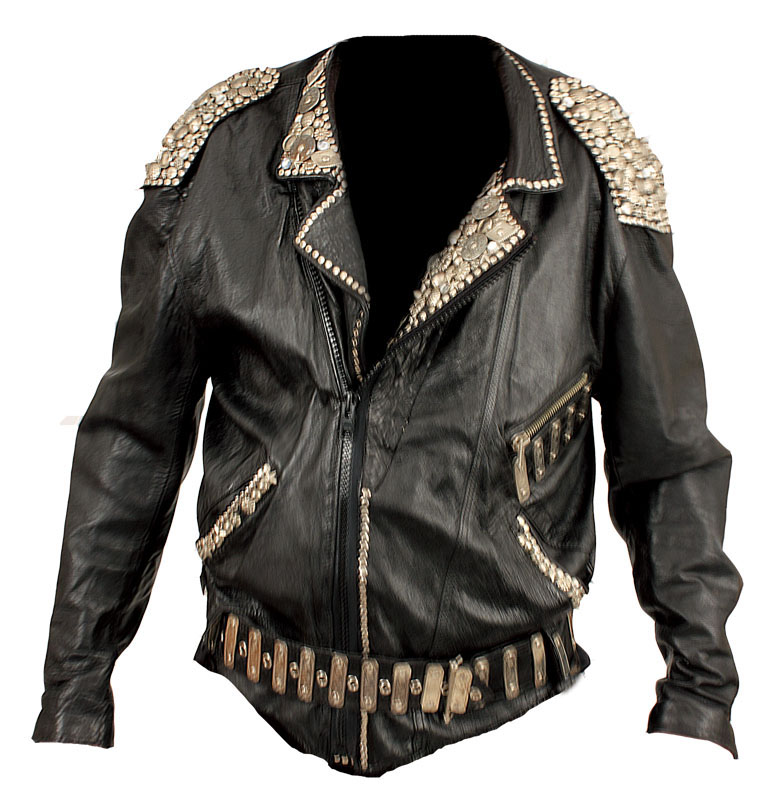 Lot Detail - Michael Jackson Bad Era Worn Studded Black Leather