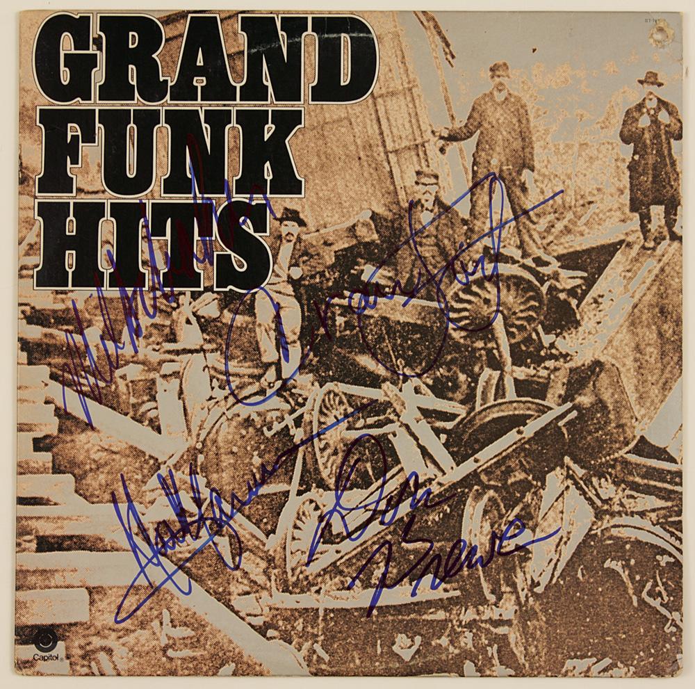 "Greatest Hits Train: Grand Funk Railroad Signed ""Grand Funk Hits"