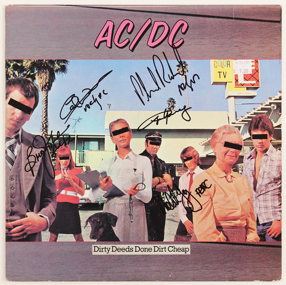 Lot Detail Ac Dc Signed Quot Dirty Deeds Done Dirt Cheap Quot Album
