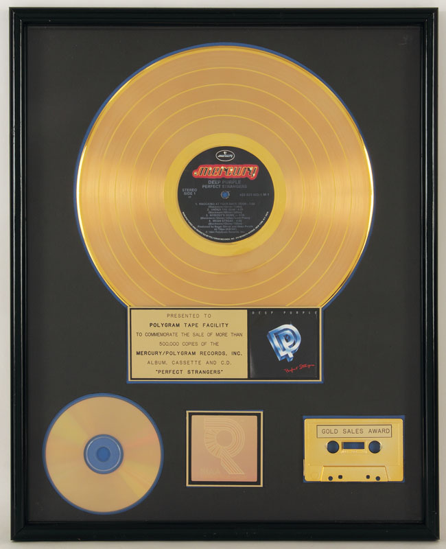Image result for deep purple perfect strangers riaa gold