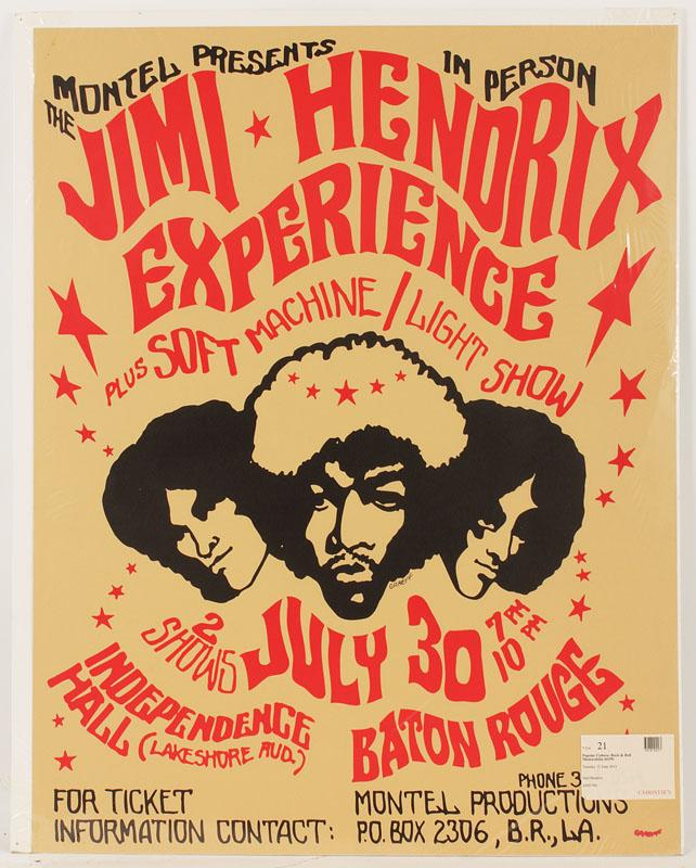 Jimi Hendrix 1968 Original Printers Proof Concert Poster Hover To Zoom