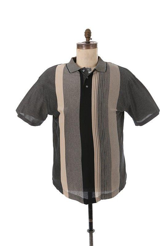 Lot detail james gandolfini sopranos worn black beige for Tony soprano polo shirts