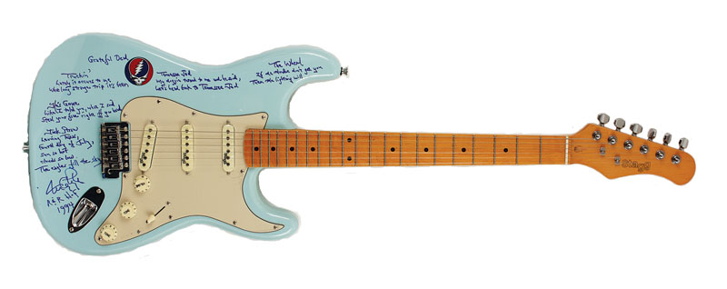 lot detail the grateful dead tom constanten signed lyrics inscribed guitar. Black Bedroom Furniture Sets. Home Design Ideas