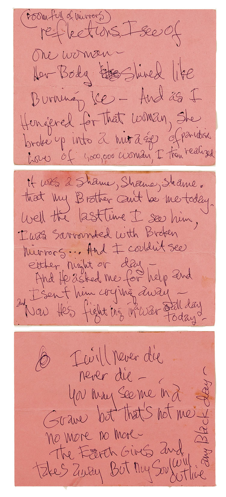 jimi hendrix handwriting Mitch mitchell, former drummer with the jimi hendrix experience  in new york, ronnie doubled the existing record for handwritten lyrics.