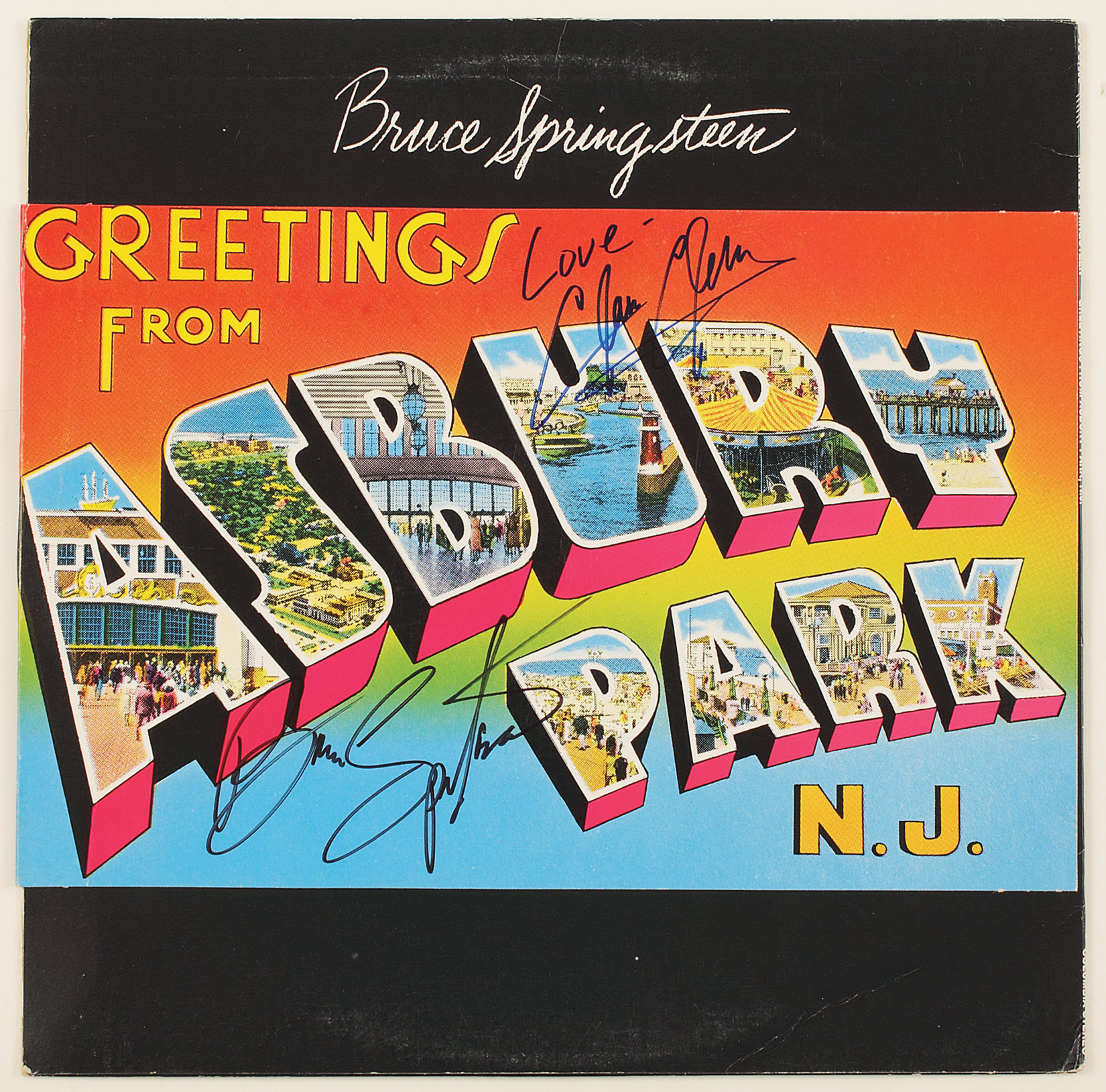 Lot detail bruce springsteen and clarence clemons signed bruce springsteen and clarence clemons signed greetings from asbury park album hover to zoom m4hsunfo