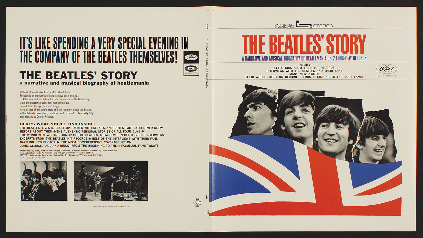Lot Detail Quot The Beatles Story Quot Original Album Artwork