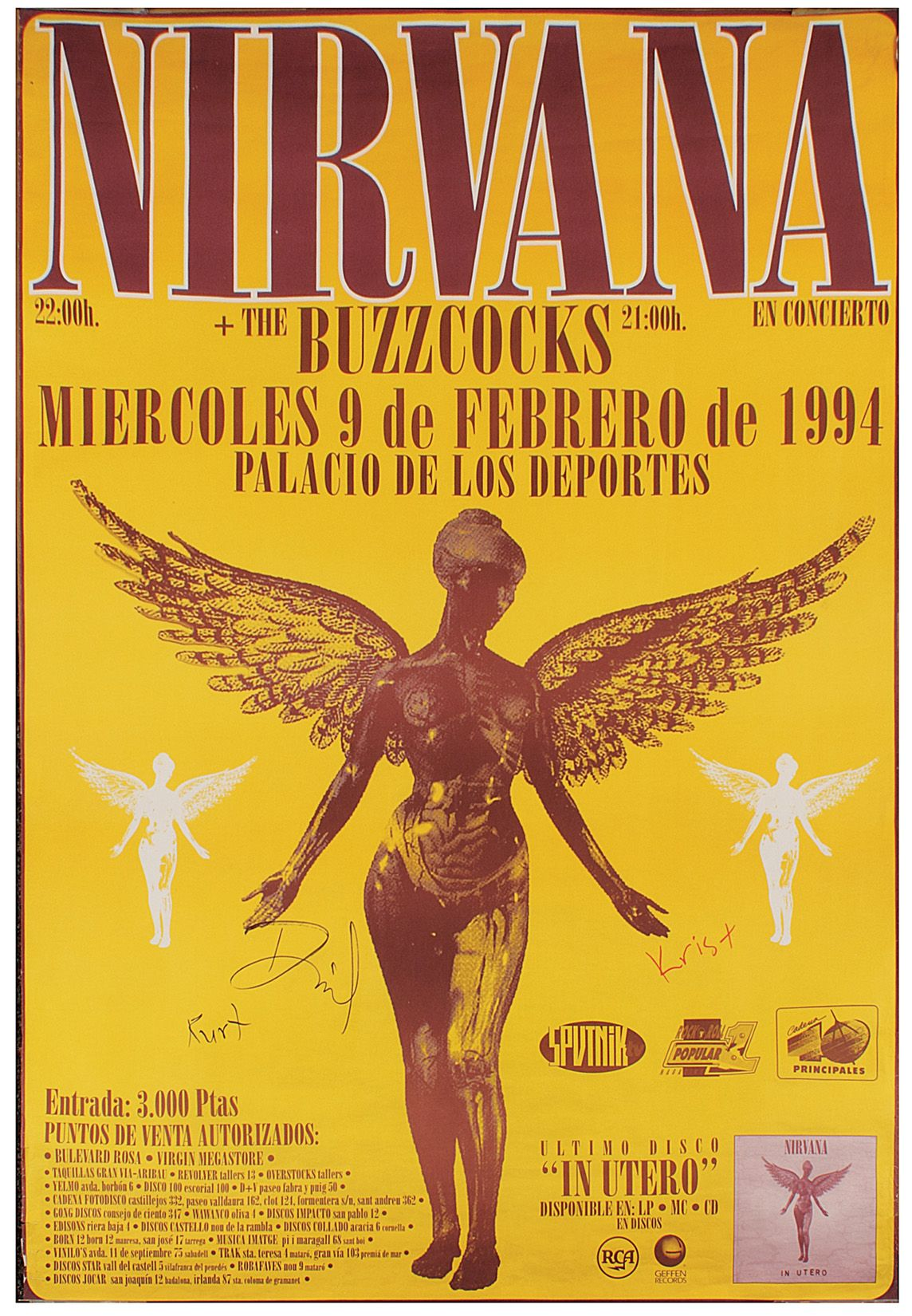 Lot Detail - Nirvana Signed Original Oversized European ...