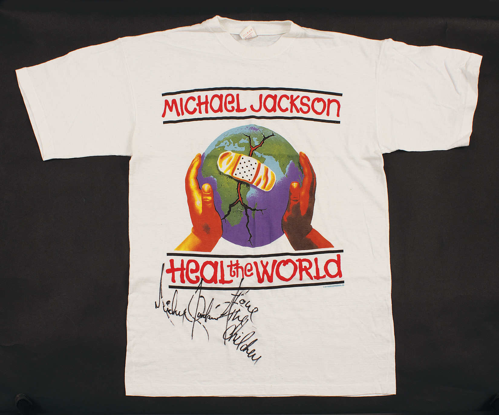 "Lot Detail - Michael Jackson Signed & Inscribed ""Heal The ..."
