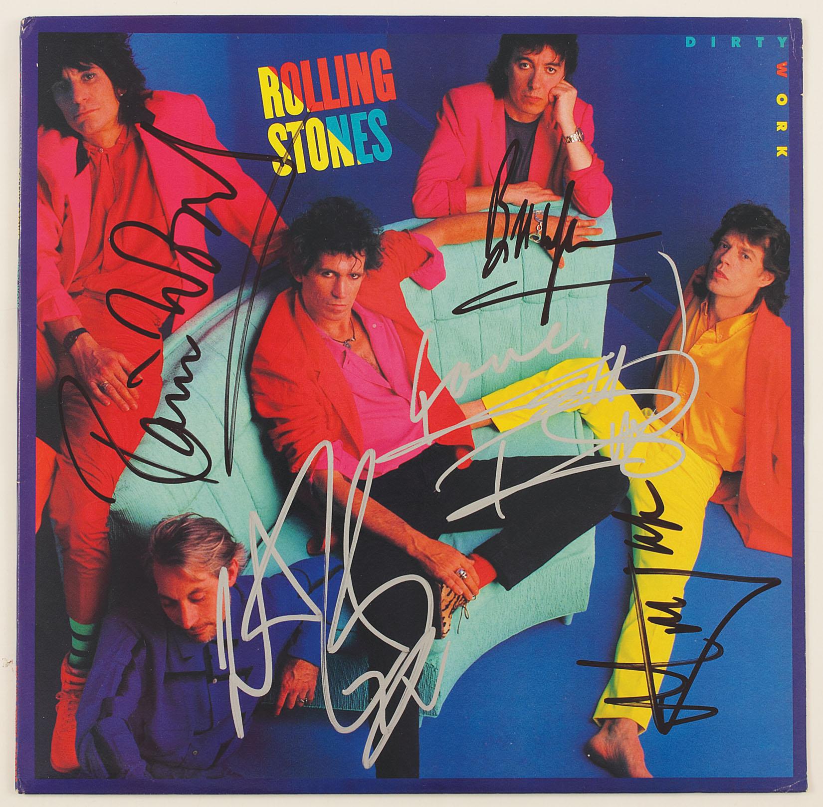 Lot Detail Rolling Stones Signed Quot Dirty Work Quot Album