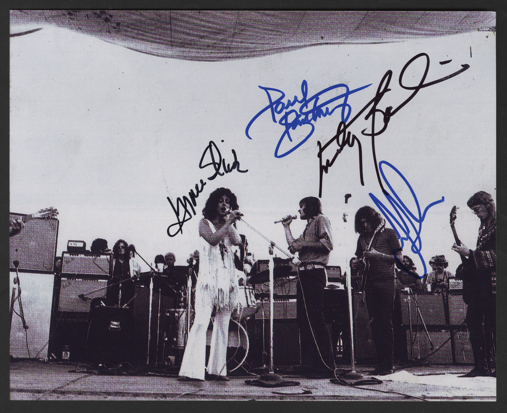 Lot Detail - Jefferson Airplane Signed Woodstock 1969 Photograph