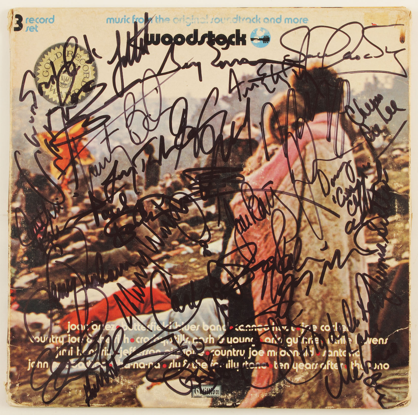 Lot Detail - Woodstock Album Signed by 25-Plus Performers
