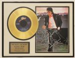 "Michael Jackson ""Billie Jean"" Signed With Handwritten Lyrics Limited Edition 24Kt Gold Record Award"