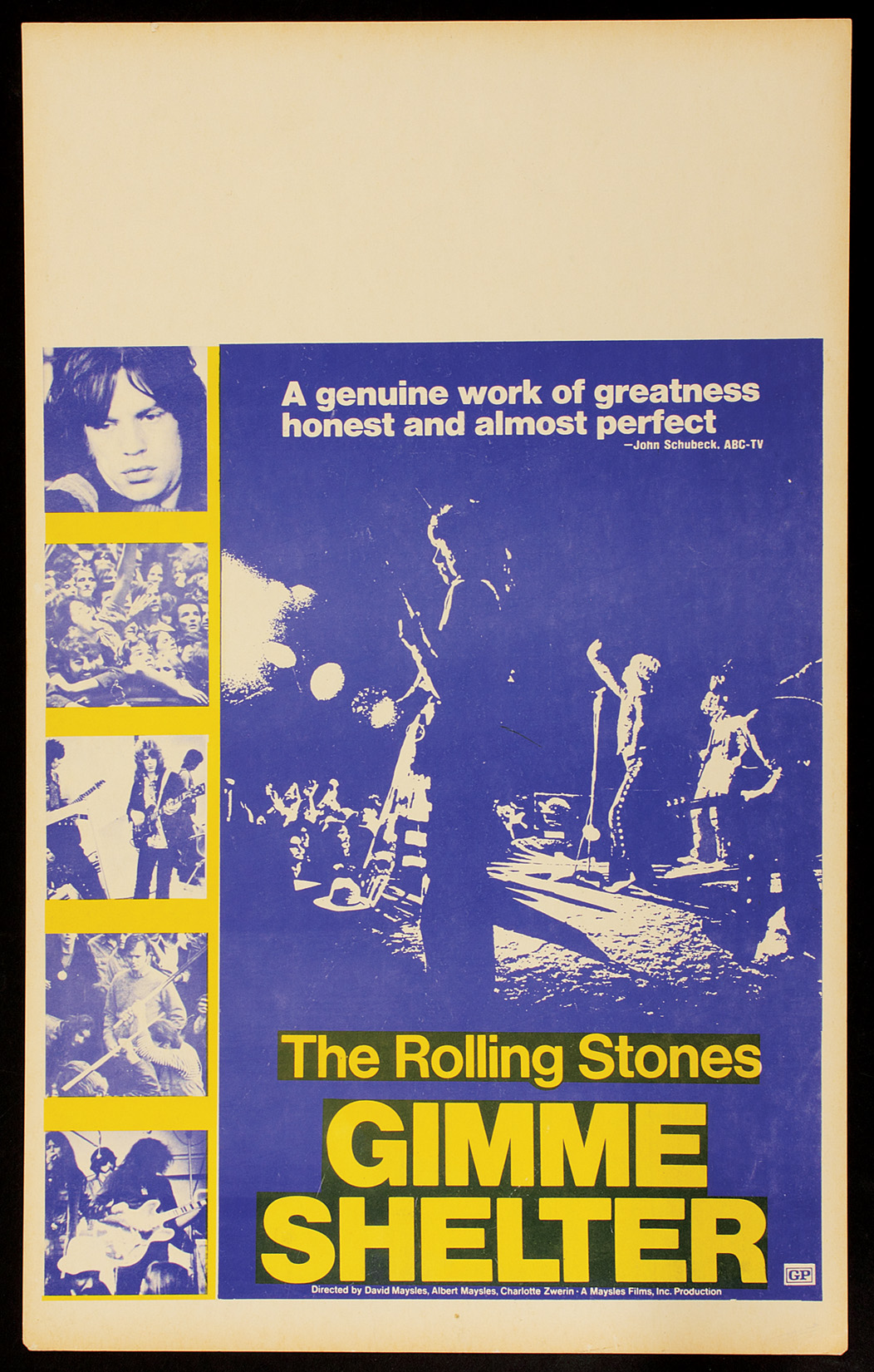 Lot Detail - Rolling Stones Gimme Shelter Original Movie ...