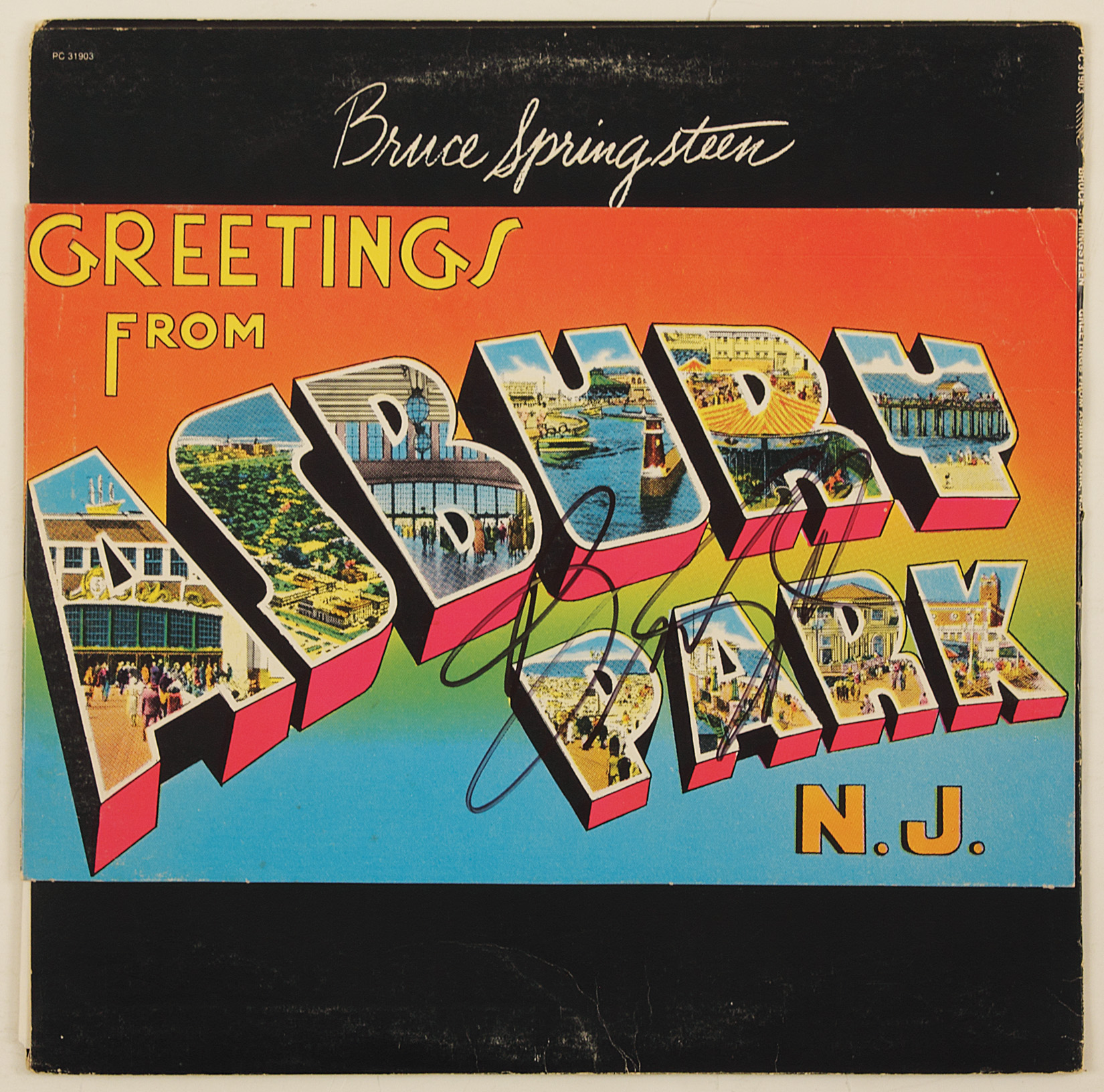 Lot Detail Bruce Springsteen Signed Greetings From Asbury Park Album