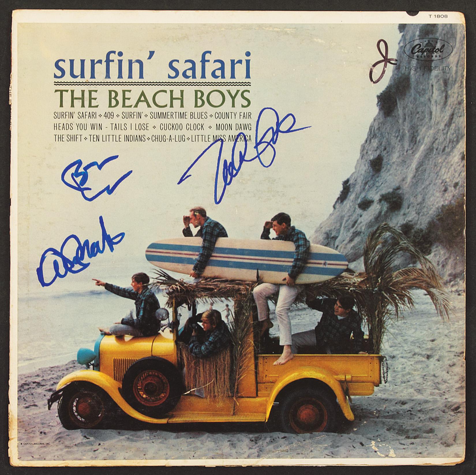 "Beach Boys Signed ""Surfin' Safari"" Album"