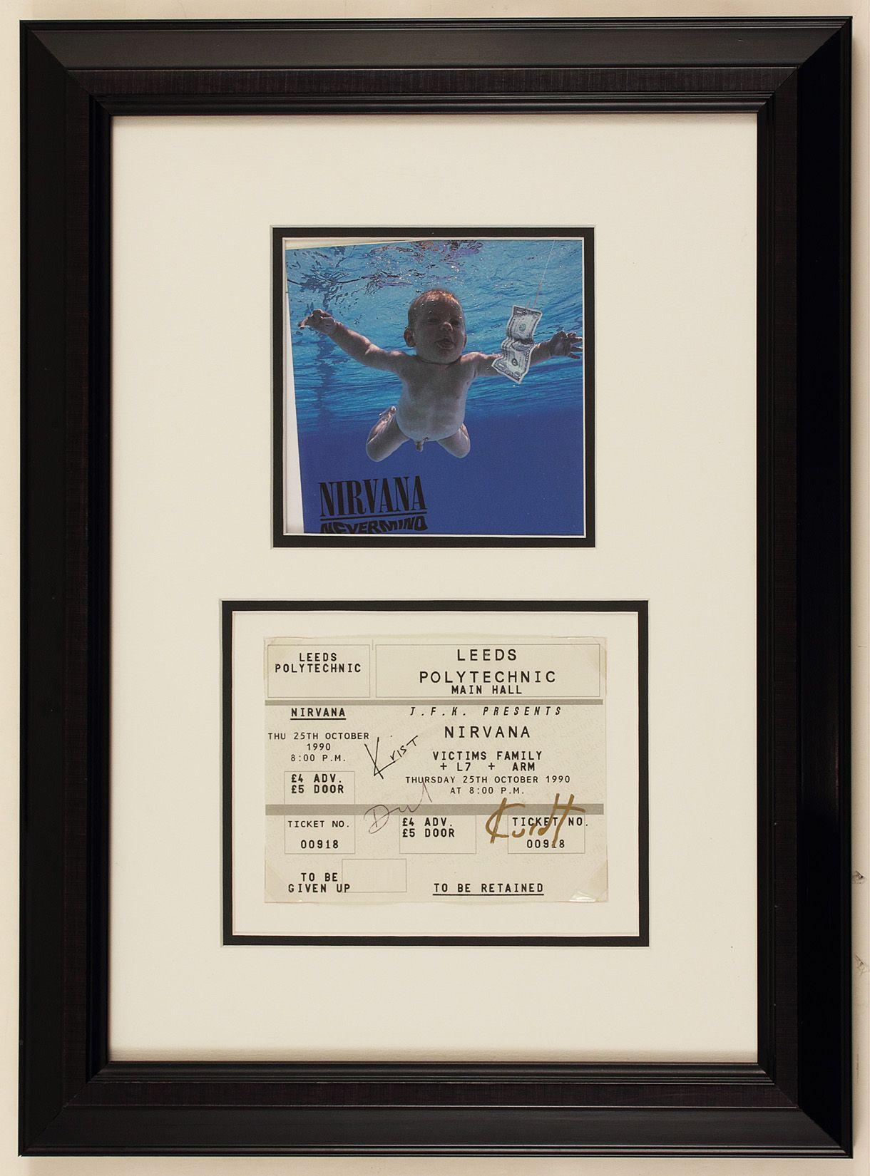 Lot Detail - Nirvana Signed Concert Ticket