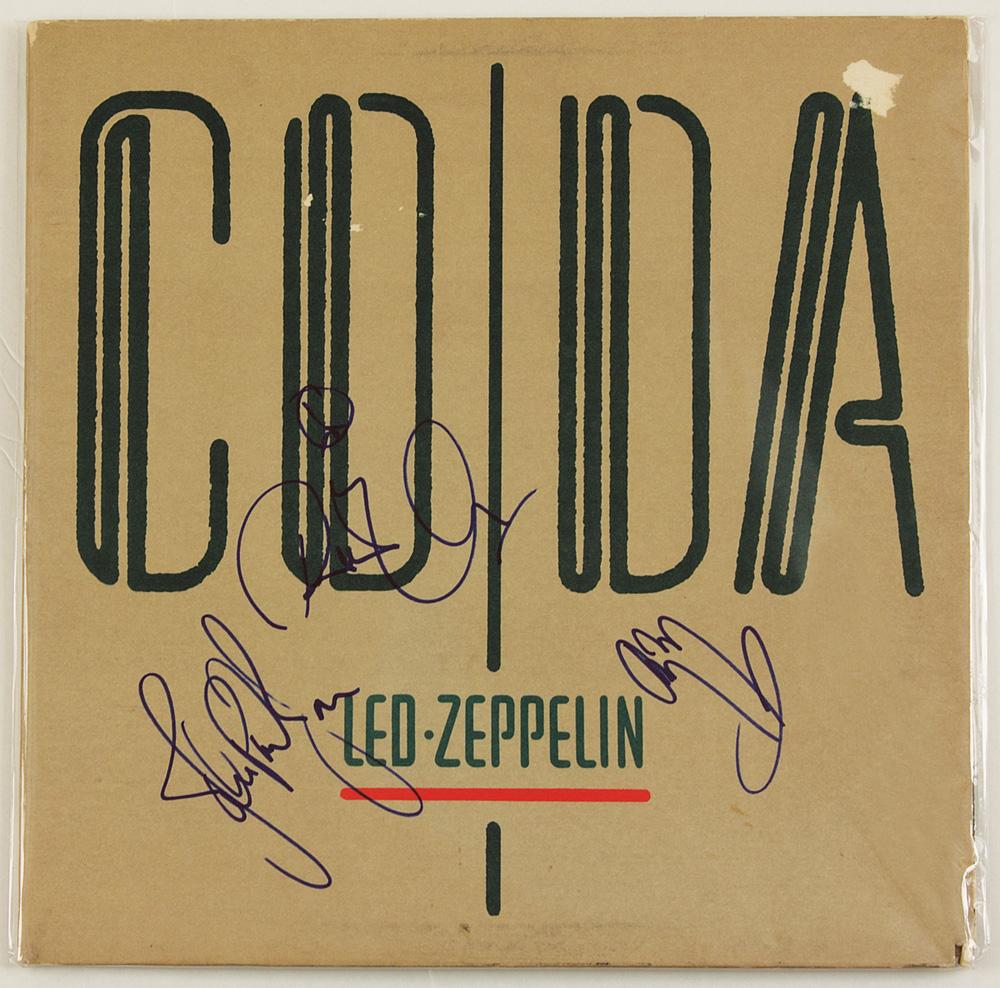 Lot Detail Led Zeppelin Signed Quot Coda Quot Album Cover
