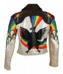 Elvis Presley Owned and Stage and Personally Worn Hand Painted Motorcycle Jacket