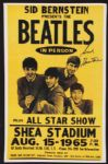 Sid Bernstein Signed Beatles Shea Stadium Concert Mini-Poster