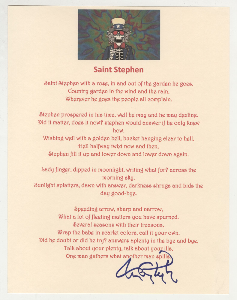 GRATEFUL DEAD - ST. STEPHEN LYRICS - SongLyrics.com
