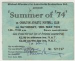 The Who Pete Townhsend Signed and Inscribed  Summer of 74 Concert Ticket