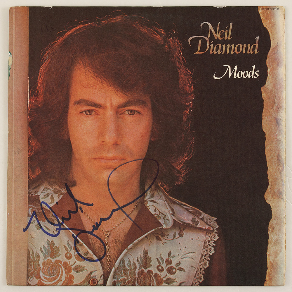 "Album Diamond: Neil Diamond Signed ""Moods"" Album"