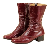 Elvis Presley Owned & Worn Burgundy Patent Leather Tall Boots