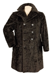 Elvis Presley Owned & Worn Custom Made Lansky Bros.Black Fur Coat
