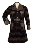 Elvis Presley Owned & Worn Custom Made Brown Fur and Leather Coat