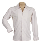 Elvis Presley Owned & Worn Custom Made White IC Costume Co. Shirt