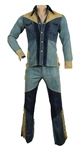 Elvis Presley Owned & Worn Custom Made Denim and Suede Jacket and Pants