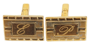 "Elvis Presley Owned & Worn ""E.P."" Cuff Links"