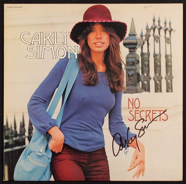 """Carly Simon Signed """"No Secrets"""" Album Cover"""