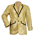 Elvis Presley NBC TV Special Worn Gold Lamé Tuxedo Jacket Custom Made by Bill Belew