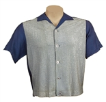 "Elvis Presley ""Jailhouse Rock"" Movie Production Worn Blue Lurex Shirt"