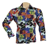"Elvis Presley Owned & Worn Long-Sleeved ""Peacock"" Shirt"
