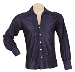 Elvis Presley Owned & Worn Blue Silk Long-Sleeved Shirt