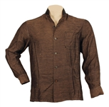 Elvis Presley 1950s Owned & Worn Custom Made Brown and Black Long-Sleeved Shirt